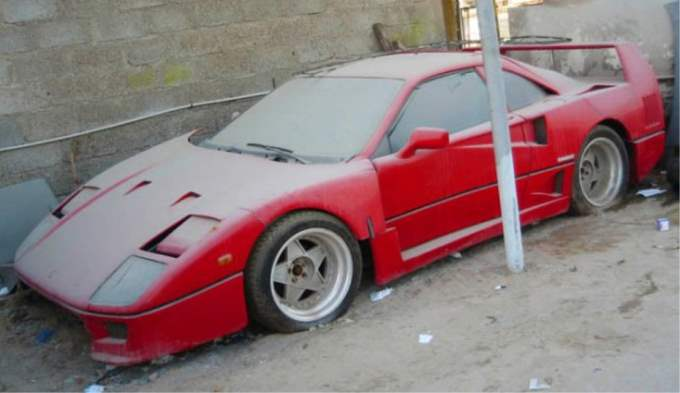 Abandoned Exotics Ferrari F40