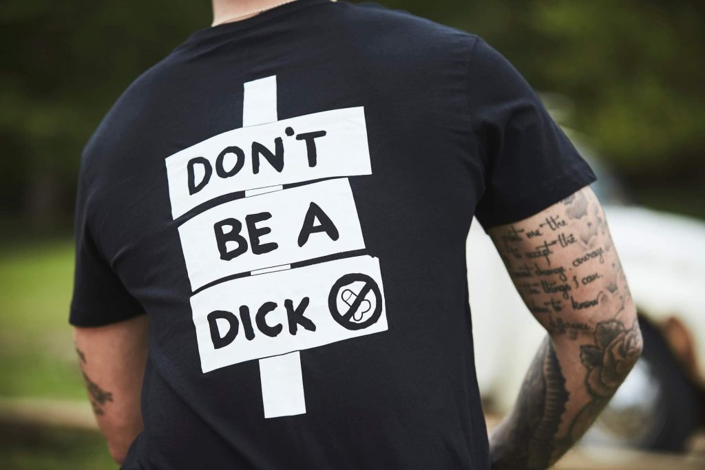 dont be a dick - caffeine and machine