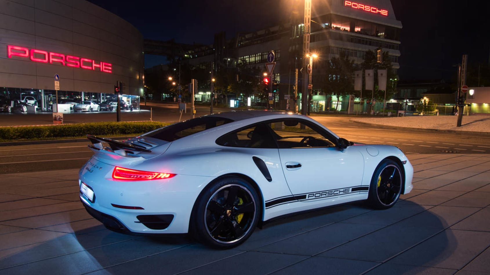 Porsche 911 991 Turbo S GB Edition in white
