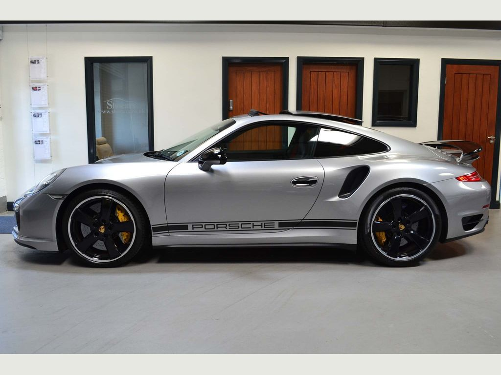 Porsche 911 991 Turbo S Silver GB Edition Silver