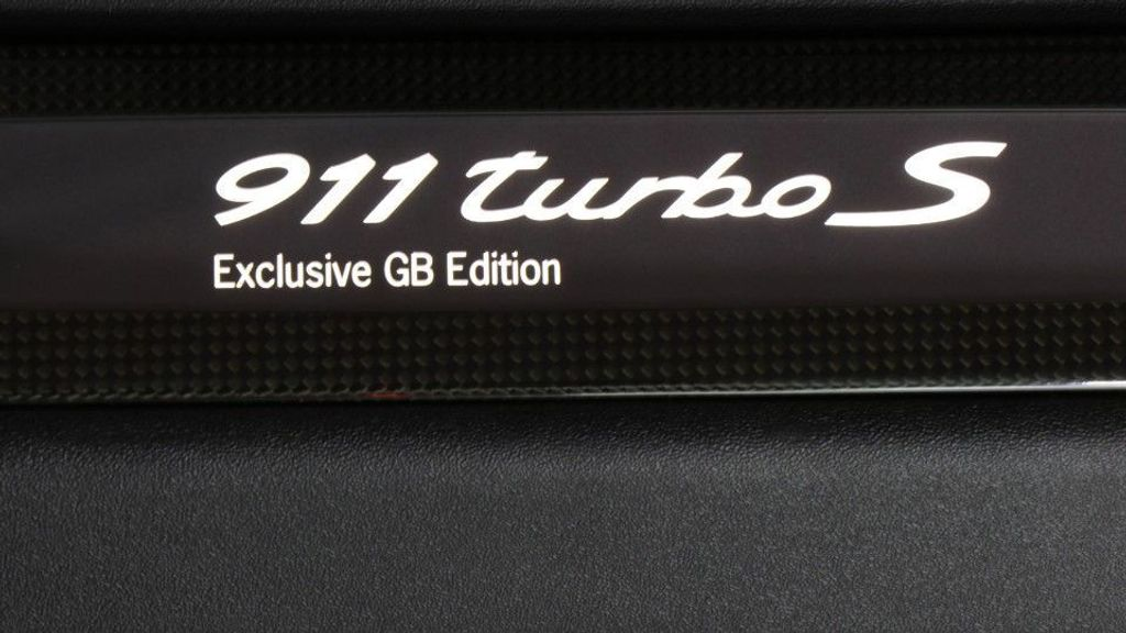 Porsche 911 Turbo S Exclusive GB Edition Ilumintated Door Entry