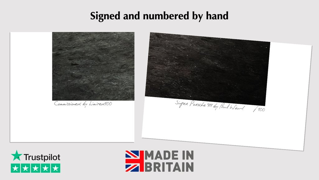 signed and numbered limited edition singer porsche 911 prints